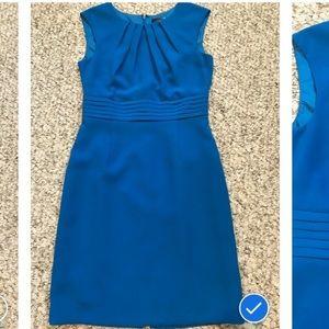 Tahari cerulean blue sheath dress size 4